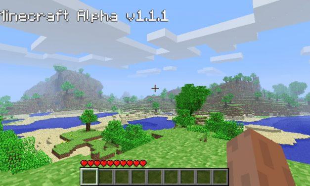 Un version rare de Minecraft 1.1.1 a été retrouvée après 10 ans de recherches