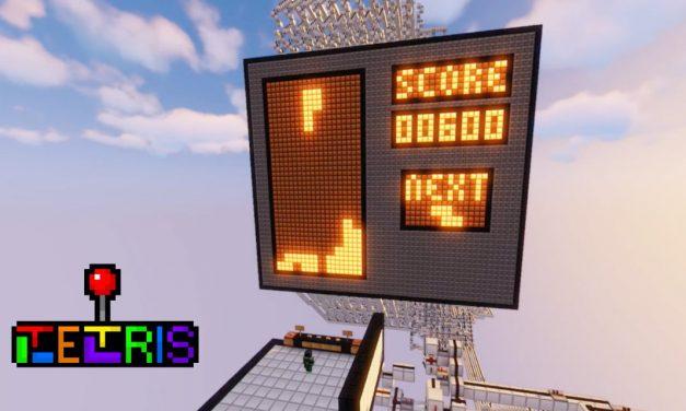 Une construction dans Minecraft permet de jouer à Tetris