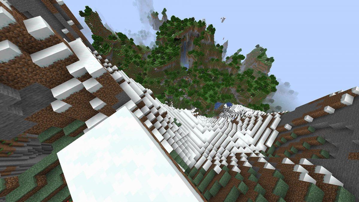 Biome montagne enneigées Minecraft 1.18