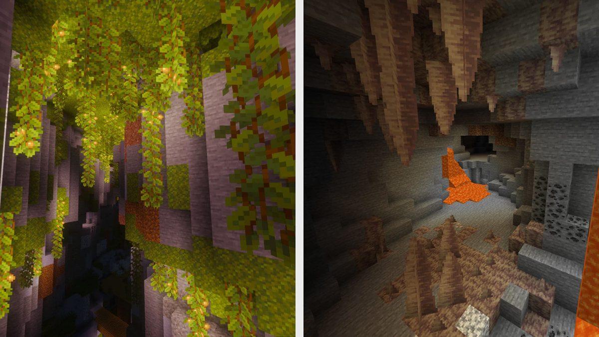 Grotte luxuriante et de spéléothèmes