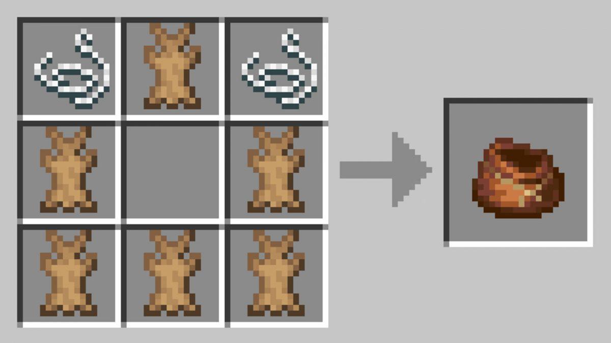 recette craft sac minecraft