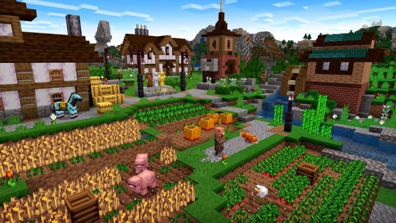 Village médiéval avec Vividity