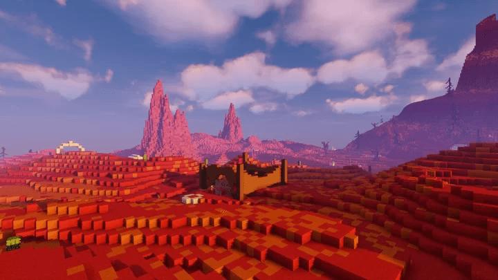 Ruine sur une lande désertique