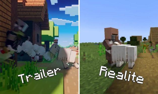 Minecraft 1.17 – Trailer Vs Réalité