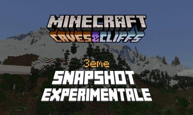 Minecraft 1.18 : Snapshot expérimentale n°3 – Nouvelle génération des terrains