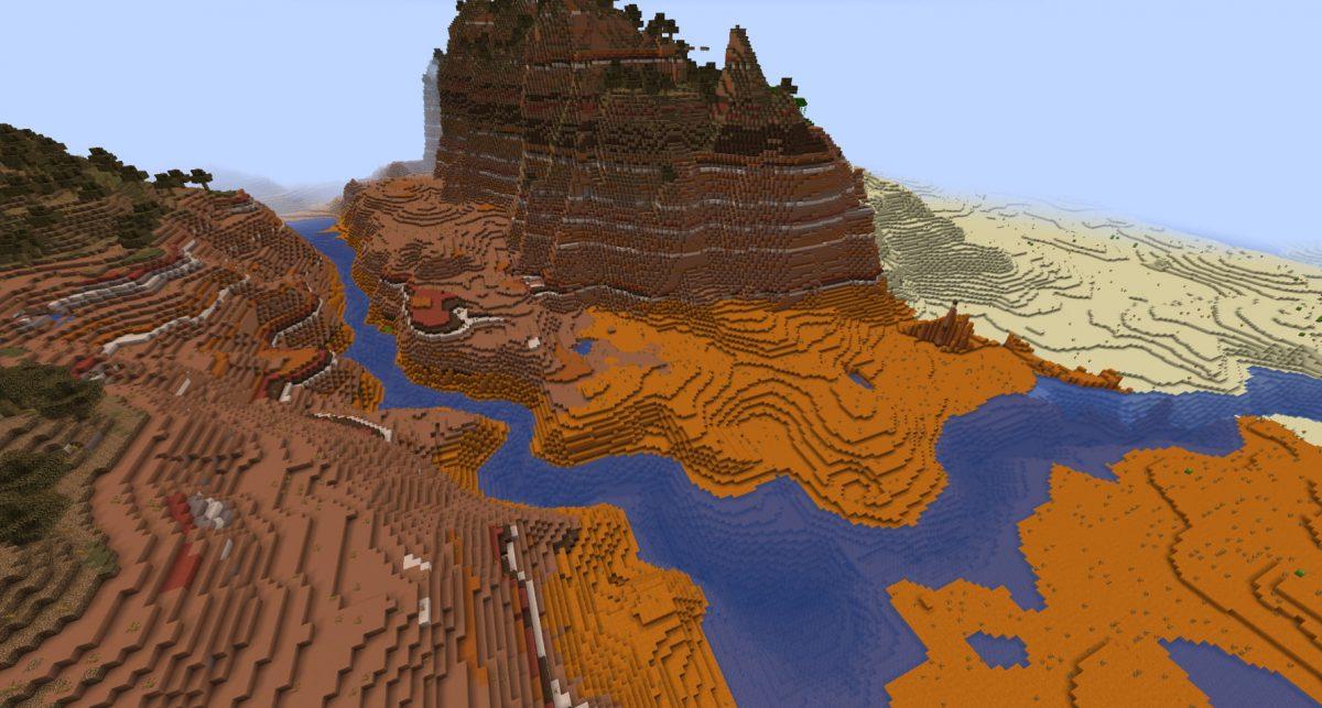 Génération biome badlands Minecraft snapshot expérimentale 4