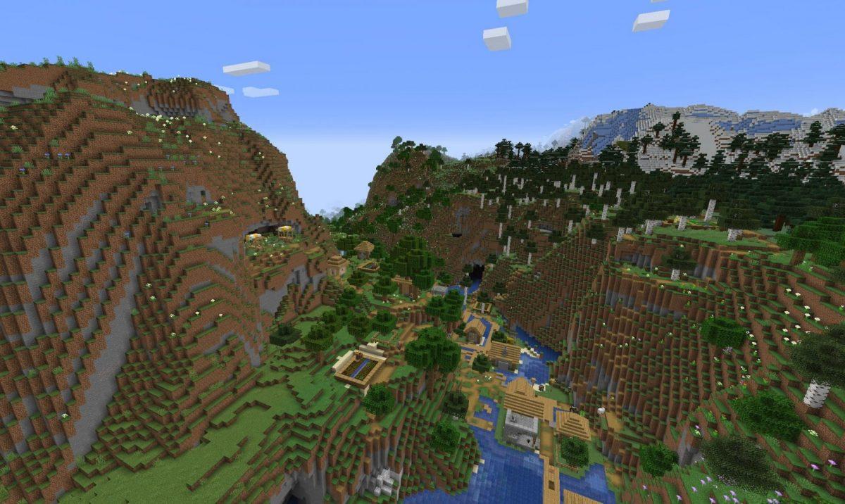 Génération village Minecraft snapshot expérimentale 4