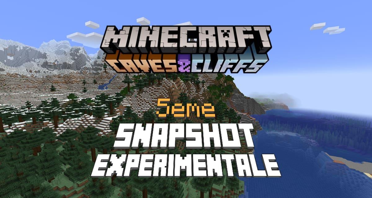 Minecraft 1.18 : Snapshot expérimentale n°5 – Nouvelle génération pour les montagnes