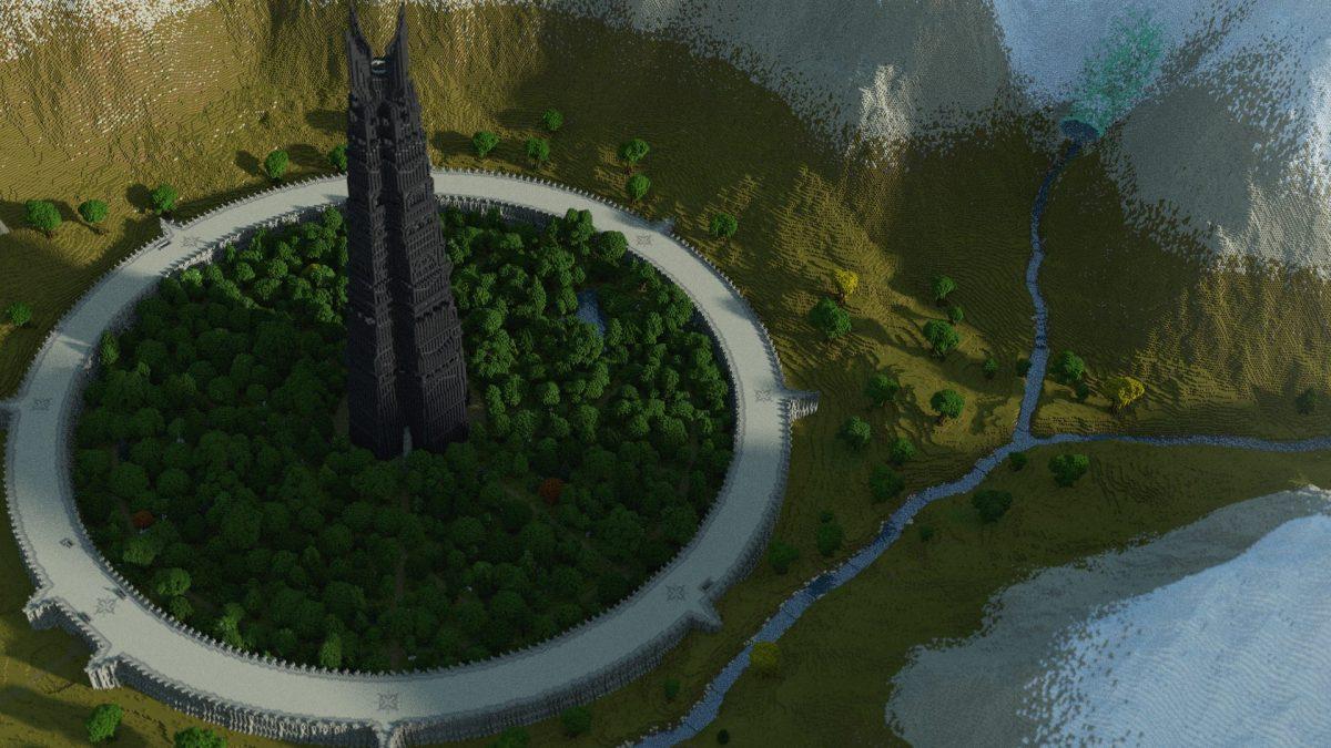 Isengard vu de haut