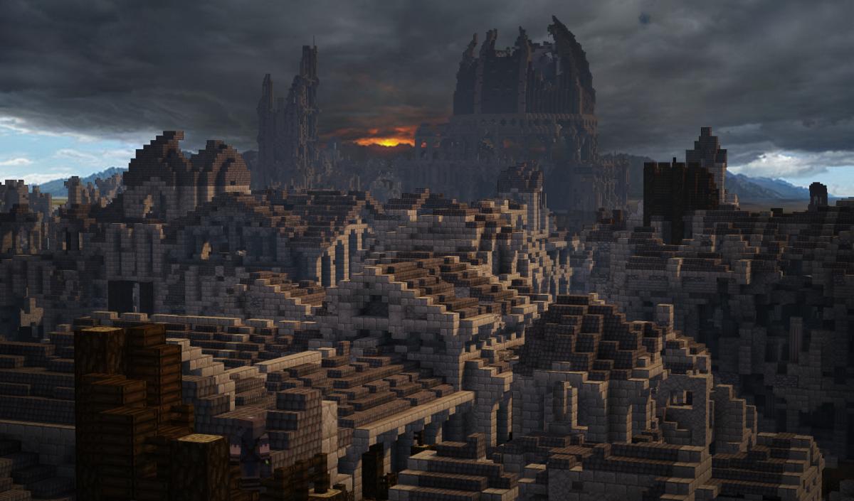Osgiliath, une vue vers Mordor