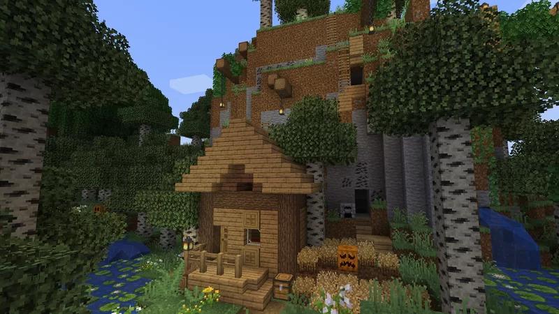 Une maison avec le texture-pack better default