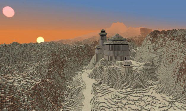 Ce joueur veut recréer tout l'univers de Star Wars, planète par planète, dans Minecraft
