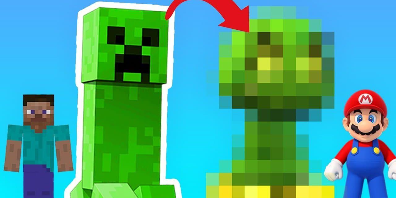 Et si Nintendo avait réalisé les monstres de Minecraft ?