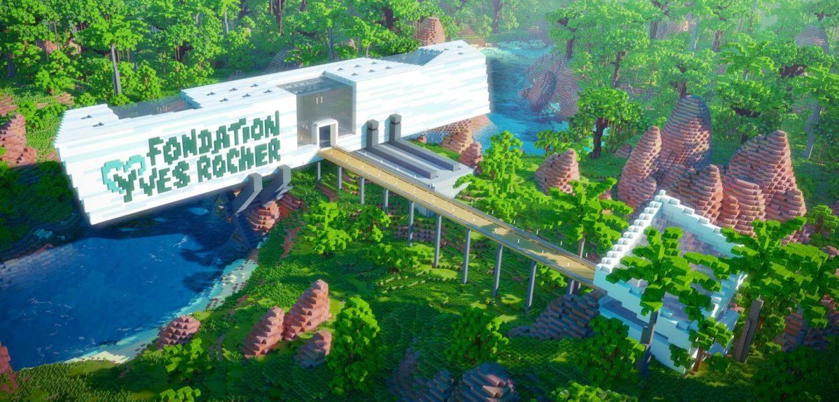 Le musée de la fondation Yves Rocher dans Minecraft