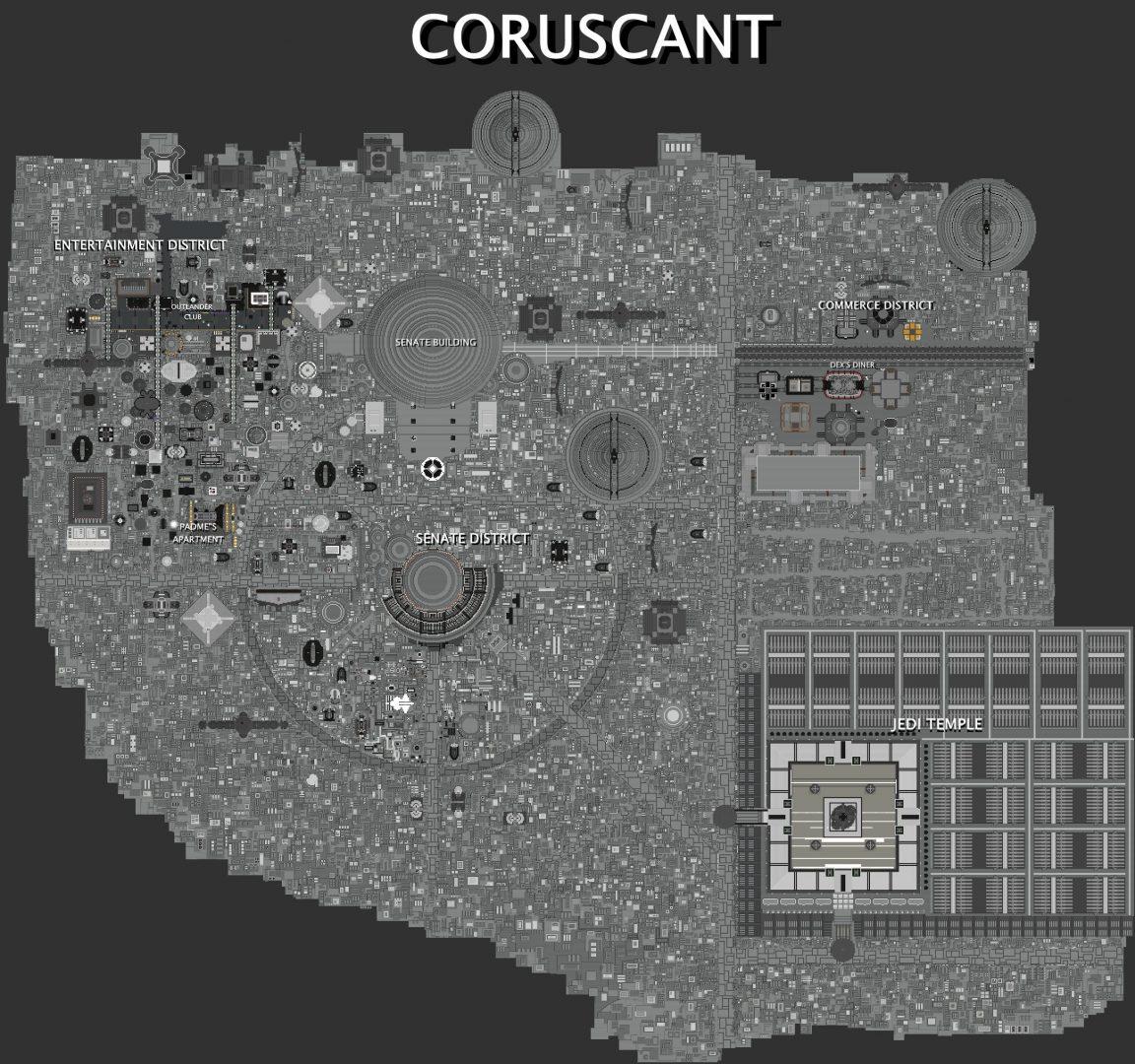 Plans de la ville de Coruscant dans Minecraft