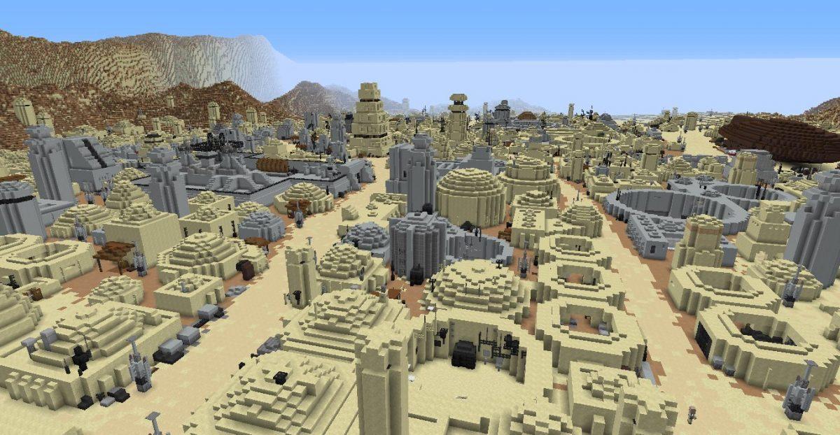 Ville de la planète Tatooine de Star Wars dans Minecraft