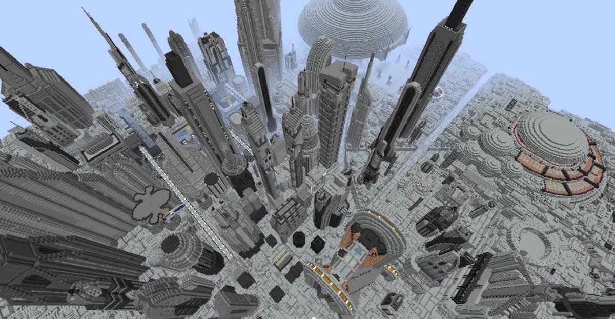 Ville de la planète Coruscant de Star Wars dans Minecraft