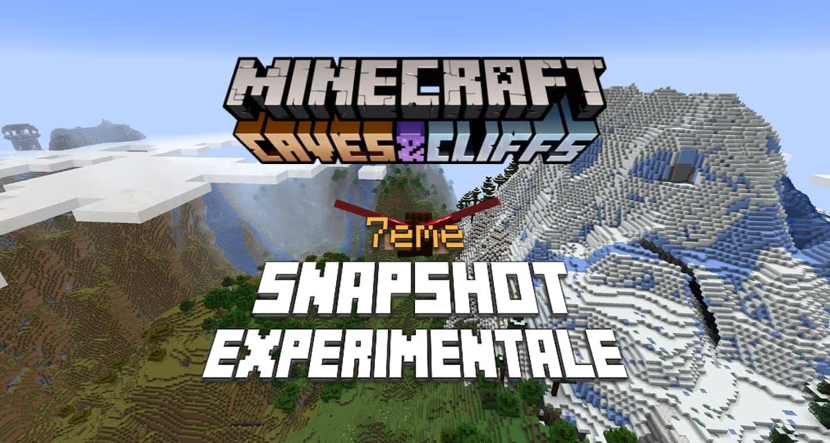 Minecraft 1.18 : Snapshot expérimentale n°7