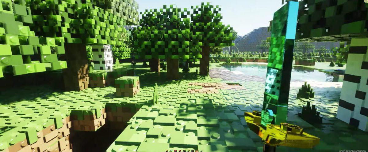 pack de texture minecraft lego brixel épée arbre