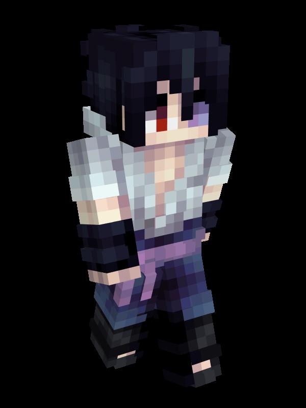 skin minecraft naruto : sasuke transformé