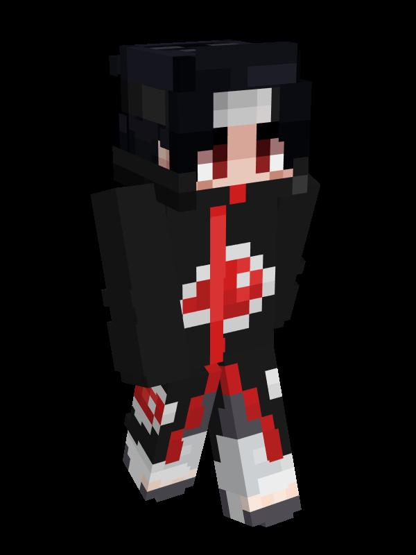 skin minecraft naruto : sasuke akatsuki