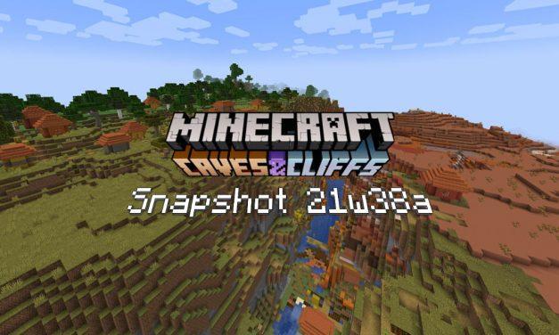 Snapshot 21w38a – Minecraft 1.18 : correction de bugs