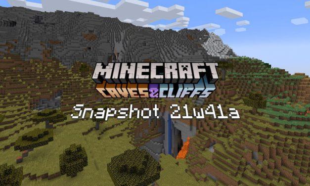 Snapshot 21w41a – Minecraft 1.18 : nouvelle génération des seeds et nouveau fond de menu
