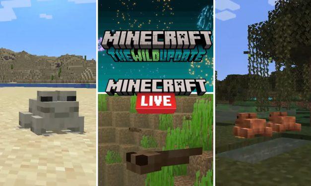 Minecraft Live 2021 – tout ce qui a été annoncé lors du live :  grenouilles, têtards, lucioles …