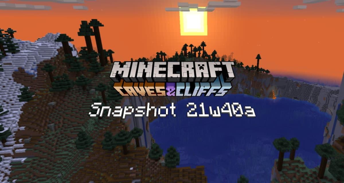 Snapshot 21w40a – Minecraft 1.18 : nouvelle génération des biomes et distribution des minerais