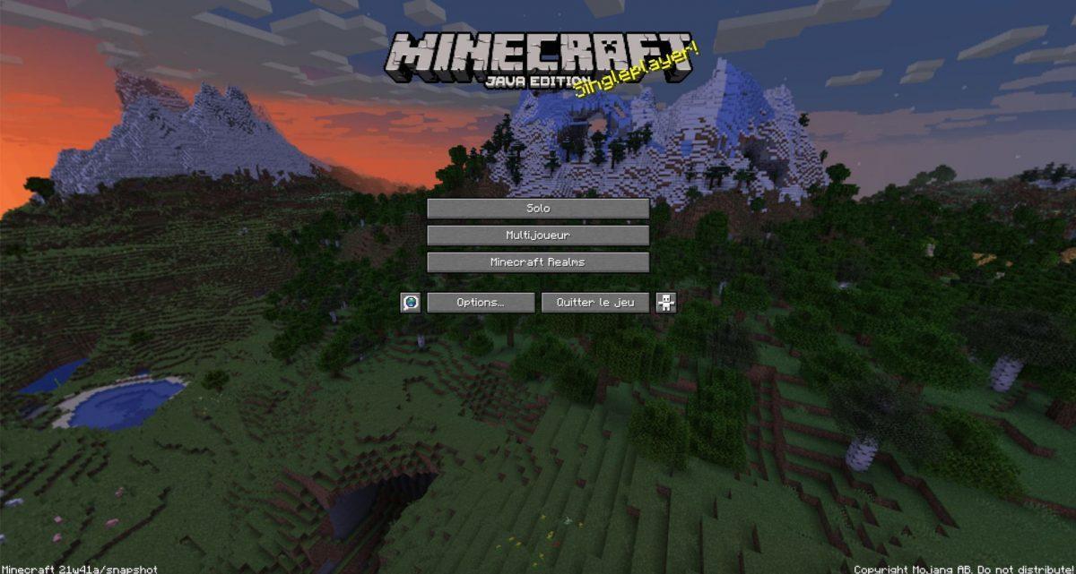 Nouveau fond menu Minecraft 2