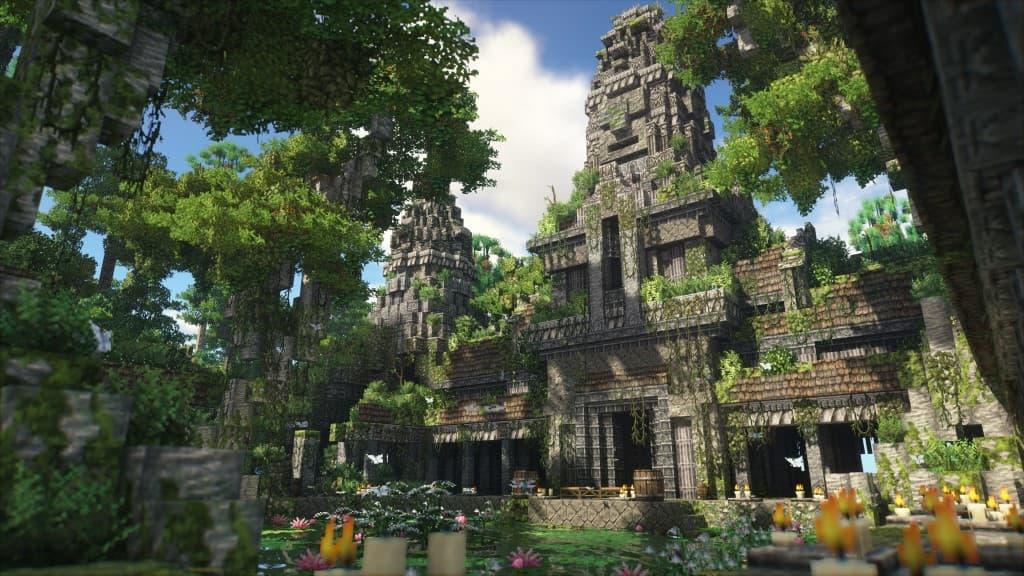 Temple avec Patrix Resource Pack